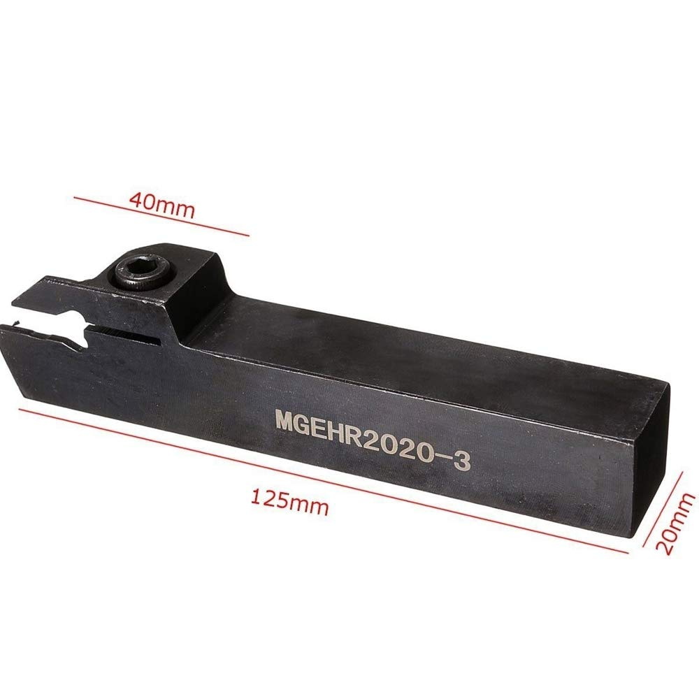 KKmoon MGEHR2020-3 Lathe External Grooving Cut Borning Bar Holder Carbide Insert with Wrench Turning Tool