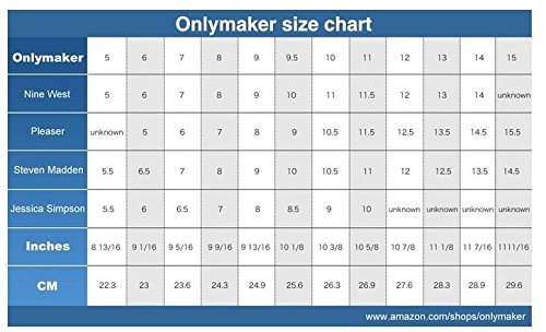 onlymaker Women's for Sandals Wedding Z Party Heel PU a Peep Working Spring Fashion Toe Summer High D'Orsay black rrqpdP