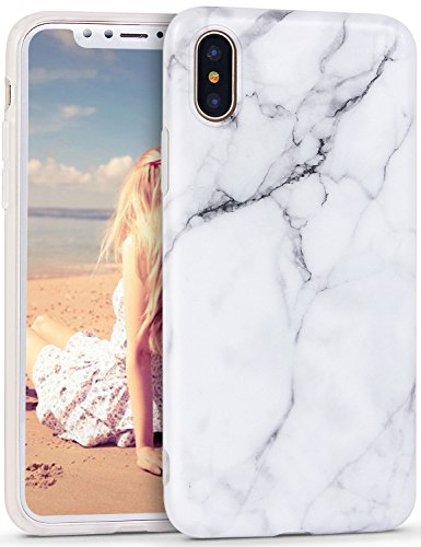 Imikoko iPhone Xs Case, iPhone Xs Marble Case, Slim Soft Flexible TPU Marble Pattern Cover for Apple iPhone Xs/X