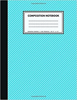 graph paper composition notebook 1 4 inch squares turquoise soft