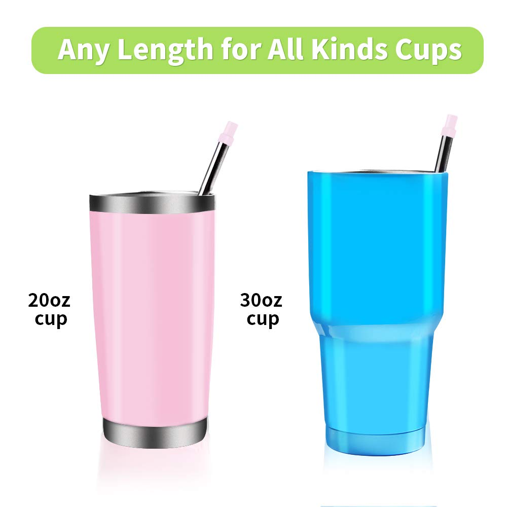 Yassk 2 Pack Reusable Straws Stainless Steel Drinking 9 inch Long Food-Grade Portable Metal Eco Straws with Spring Slide Case /& Cleaning Brush Blue, Blue