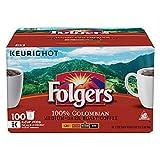 Folgers 100% Colombian Medium Dark Roast Coffee 100 K-Cups