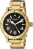 Nixon Men's '46' Quartz Stainless Steel Watch, Color Gold-Toned (Model: A916510-00)