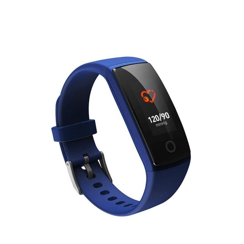 Ambiguity Fitness-Armband,Smart Blautooth Sport Armband kontinuierliche Herzfrequenz-Monitor Bewegung Schrittzähler HD Touch Tiefe wasserdicht Armband