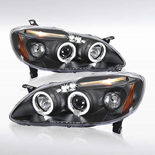 Autozensation For Toyota Corolla Black LED Halo