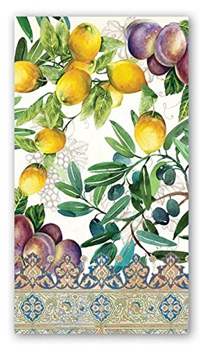 15-Count 3-Ply Paper Hostess Napkins, Tuscan Grove 3 Ply Guest Napkin