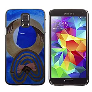 Plastic Shell Protective Case Cover    Samsung Galaxy S5 SM-G900    Art Picasso Watercolor @XPTECH