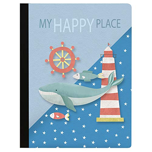 (Tree-Free Greetings Whimsical Whale Soft Cover 140 Page  College Ruled Notebook, 9.75 x 7.25 Inches (CJ47096))