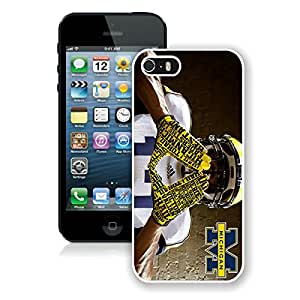 iPhone 5S Case,Ncaa Big Ten Conference Football Michigan Wolverines 7 White For iPhone 5S Case