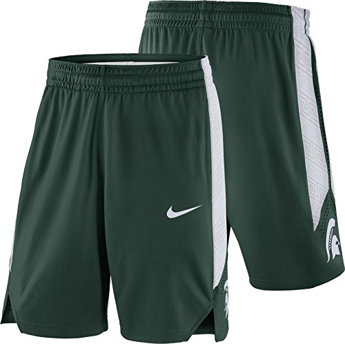 (Nike Men's Michigan State Spartans Green Replica Basketball Shorts (XL))