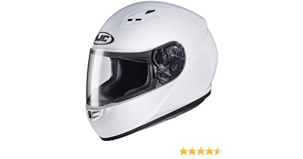 Amazon.com: HJC Helmets CS-R3 Unisex-Adult Full Face Solid Motorcycle Helmet (White, Medium): Automotive