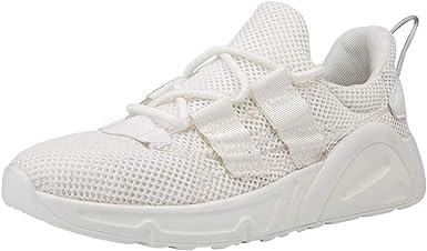 Alaso - Zapatillas de running para hombre, color negro y blanco beige 39: Amazon.es: Ropa y accesorios