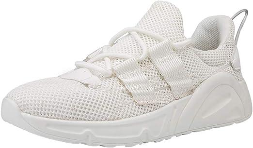 Alaso - Zapatillas de running para hombre, color negro y blanco ...