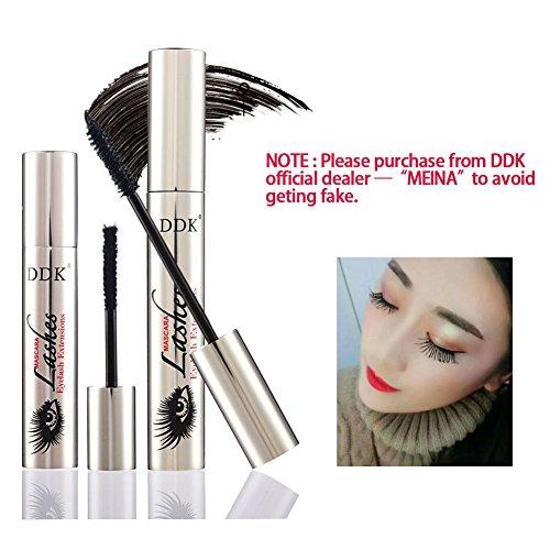 DDK 4D Mascara Cream,Makeup LashCold Waterproof Mascara,Eye Black,Eyelash Extension,crazy-long Style,Warm Water Washable Mascara
