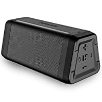 AOMAIS Real Sound Portable Bluetooth Speakers Loud Bass 20 Hours Playtime, Bluetooth 4.2, 100ft Range, IPX4 Waterproof, Durable Wireless Stereo Pairing Speakers for Home, Outdoor, Travel (Black)