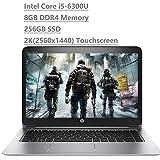 Premium HP EliteBook 1040 G3 14' 2K QHD Touchscreen (2560x1440) Business Laptop (Intel Core i5-6300U, 8GB DDR4 Memory, 256GB SSD) HDMI, Bang & Olufsen, WiFi AC, Bluetooth, Type-C Windows 7 or 10 Pro