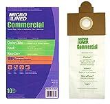 vac n pac - (10) Clarke Combi-Vac, FiltraVac Premium Micro-Lined Vacuum Bags, 10 Pack.