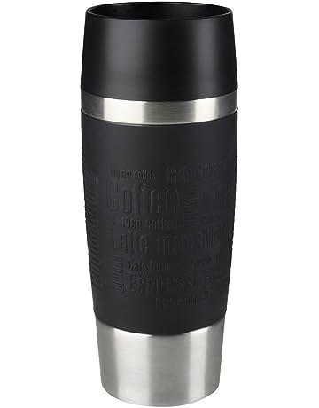 Emsa Isolierbecher Mobil genießen 360 ml Quick Press Verschluss Travel Mug, Coffee -Manschette Schwarz
