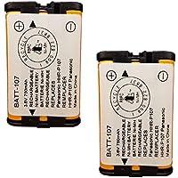 Panasonic PQSUHGLA1ZA Cordless Phone Battery Combo-Pack includes: 2 x BATT-107 Batteries