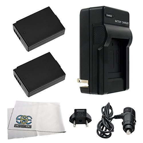 Pack of 2 LP-E10 Batteries and Battery Charger Kit for EOS 1