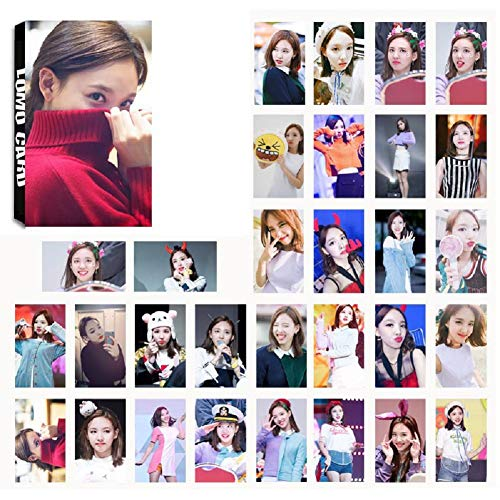 Youyouchard Kpop Twice [ Fancy You ]& [ Summer Nights ] Photo Postcard Support Lomo Cards Set New Album Collective Photocard Poster Gift for Fans, 30PCS(Nayeon)