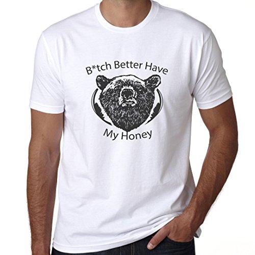Grizzly Bear Graphic B*tch Better Have My Honey Premium 100% Men's Cotton T-Shirt