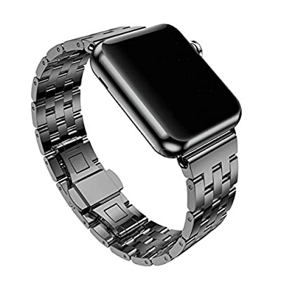 For Apple iWatch Band 38/42MM, Rosa Schleife Apple Watch Band Stainless Steel Strap Wristband with Metal Clasp Classic Buckle Wrist Watch Strap Bracelet for Apple Watch Sport & Edition