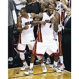 LeBron James & Dwyane Wade Miami Heat Celebration Photo