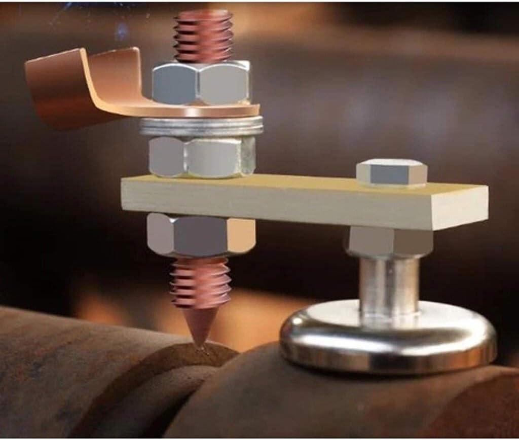 Jidan Butt Welding Clamps Steel Butt Welding Clips Magnetic Welding Ground Clamp Small Magnetic Welding Ground Clamp Holder Rare Earth Switchable Magnet Welding Holder