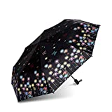 HOMEE Butterfly dance rain and rain umbrella foldable creative sun umbrella sunscreen violet umbrella (color optional),A