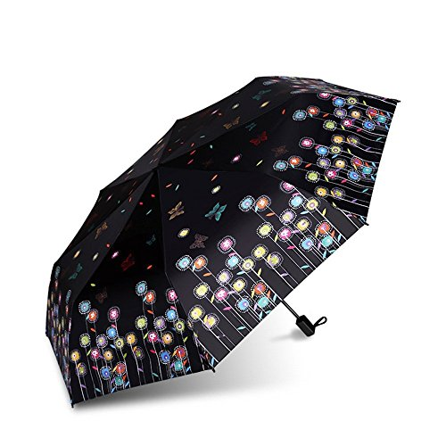 HOMEE Butterfly dance rain and rain umbrella foldable creative sun umbrella sunscreen violet umbrella (color optional),A by HOMEE