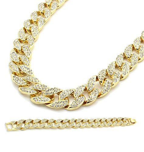 Gold Color Tone Brass Fully CZ Iced Out 15mm 30