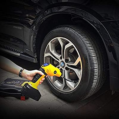 WHISIN Tire Inflator Cordless Air Compressor,Car Air Pump Tire Inflator Rechargeable Includes LCD Display LED Light Pin Attachments Car Adapter: Automotive