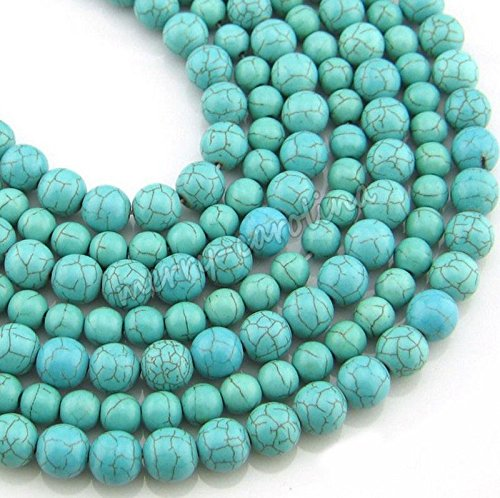 8mm-30PCS Wholesale 100% Real Natural Turquoise Gemstone Spacer Loose Beads Charms Jewelry (Turquoise Beads Wholesale)