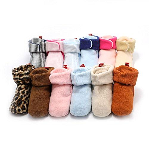 WATTA Baby Hi-Top Warm Up Fleece Lined First Pram Shoes Baby Booties - Image 6