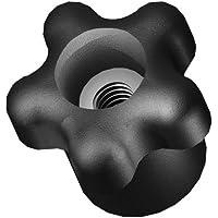 Innovative Components AN4C-5S221 1.38″ Star knob thru hole 1/4-20 steel zinc insert black pp (Pack of 10)