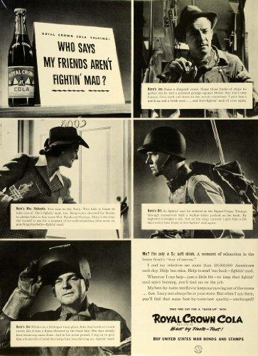 1942 Ad Royal Crown Cola World War II Grudge Fightin' Mad Soda Drink Beverage - Original Print Ad from PeriodPaper LLC-Collectible Original Print Archive