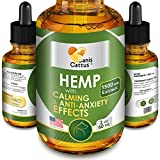 Hemp Oil for Dogs & Cats - 1500 MG - Natural Dog Pain Relief - Anxiety&Stress Relief - Supports Hip&Joint Health - Hemp Skullcap Passionflower Oregano Chamomile - Calming Effect (2oz) (2oz)