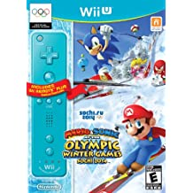 Mario & Sonic at the Sochi 2014 Olympic Winter Games w/ Blue Wii Remote Plus - Wii U