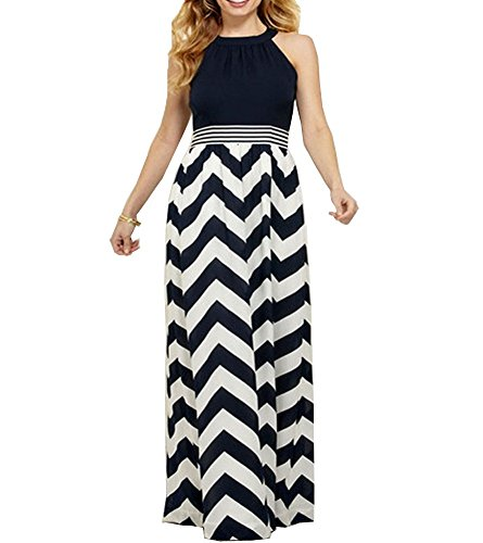 Roiii Sexy Women V-Neck Summer Casual Long Maxi Evening Party Dress Plus Size 4-20 New (Medium, Black)