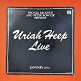 URIAH HEEP Live SRM 2 7503 GK Dbl LP Vinyl VG+ Cover VG+ GF Booklet Sleeve