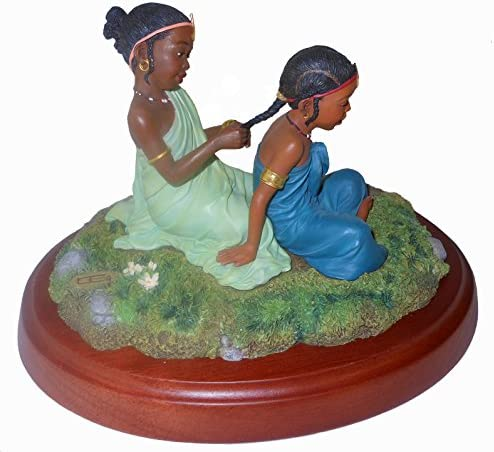 Thomas Blackshear Sisters Forever in Childhood 37023 Retired Vintage Ebony Visions Figurine Height 5.75 Available from Westwinn