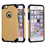 Iphone 6s Case, Iphone 6 Case, Sean Slim Fit Dual Layer Hybrid Bumper Protective Case for Iphone 6s / Iphone 6 (4.7 Inch) + 1 S-Smile Stylus (Black / Gold)