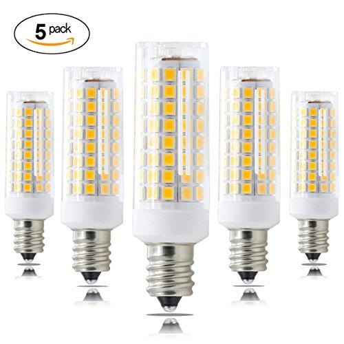 XRZT E12 LED Bulb Dimmable 100W 120V All New(102-LEDs) 75W Halogen Bulbs Equivalent, E12 Led T3/T4, Warm White 3000K Chandelier Bulbs(5-pack) - 75w Halogen Light Bar