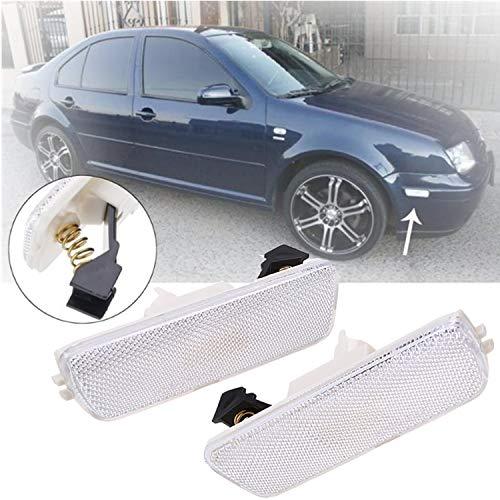 Heart Horse Front Bumper Reflector Side Marker Lights for VW Mk4 MKIV Jetta Golf 4 1998-2004 1JM945072/1JM945071