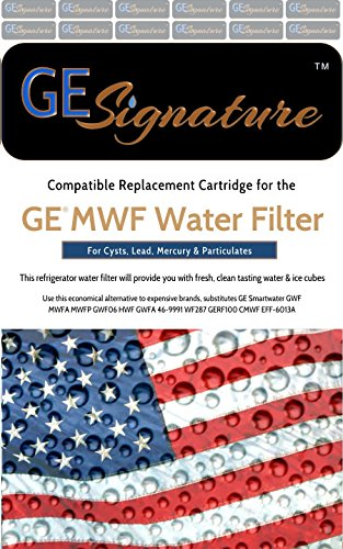 General Electric MWF Refrigerator Water Filter (Ge Mwf Water Filter 3 Pack)