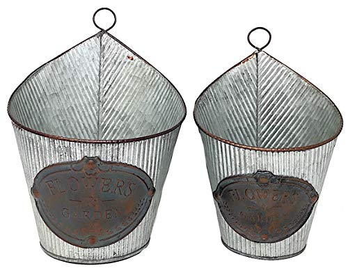 - Metal Wall Planter Pocket Hanging Organizer Indoor Outdoor Tin Metal W Antique Copper Plates Flowers & Garden 10