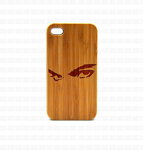 Krezy Case Real Wood iPhone 4 Case, Love iPhone 4 Case, eyes iPhone 4 Case, Wood iPhone Case,