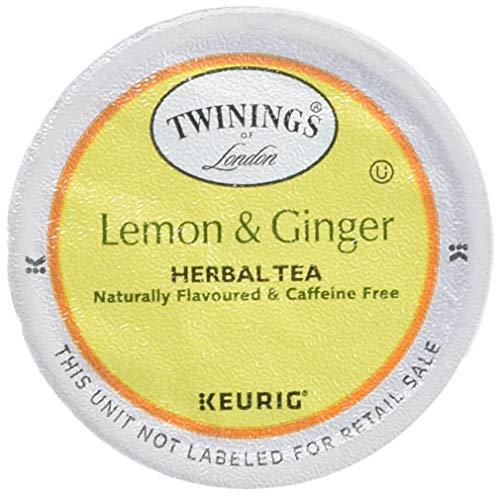 Twinings of London Lemon & Ginger Herbal Tea K-Cups for Keurig, 96 ()