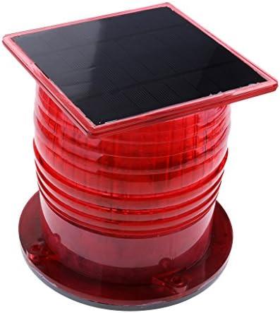 gazechimp 赤い 安全 ソーラーLED点滅ライト バリケード フラッシャー トラフィック マリン ボート